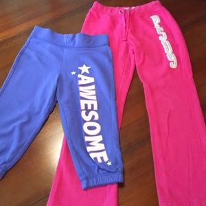 2 Pair Youth Girl Sweatpants Size Med (7/8)
